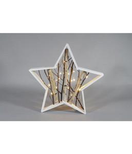 Dehner LED-Stern, Holz weiß, Ø 50 cm