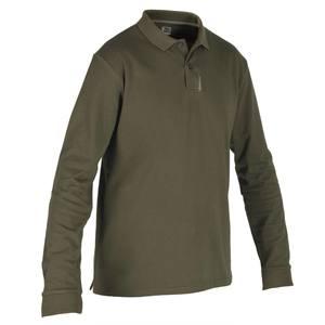 Jagd Poloshirt Langarm SG100 grün
