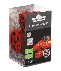 Dehner LED-Lichterkette Stern, 10 Lichter, rot
