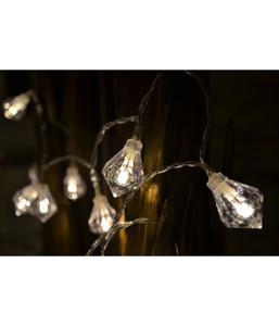 Dehner LED-Lichterkette Diamant, 10 Lichter