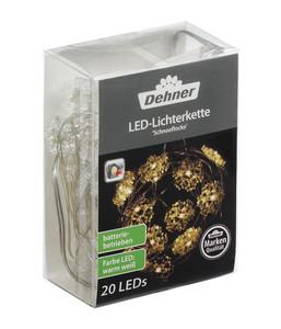 Dehner LED-Lichterkette Schneeflocke, 20 Lichter