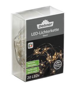 Dehner LED-Lichterkette Stern, 20 Lichter