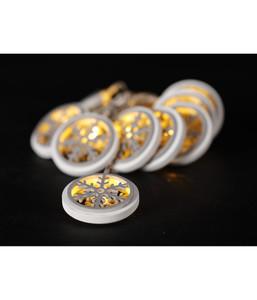 Dehner LED-Lichterkette Flocke, 10 Lichter, weiß/grau