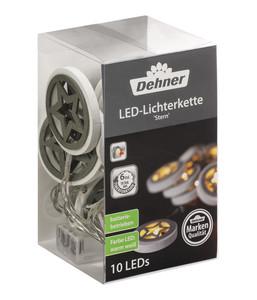 Dehner LED-Lichterkette Stern, 10 Lichter, weiß/grau