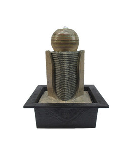 Dehner Polyresin-Zimmerbrunnen Zen-Kugel