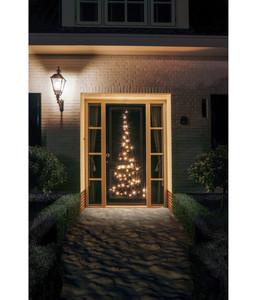 Fairybell Weihnachtsbaum-Silhouette für Türen, 60 LEDs, B 85, H 210 cm