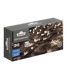 Dehner LED-Lichternetz, 1x1 m, 64 Lichter