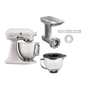 """KitchenAid             Küchenmaschinen-Set """"Artisan 5KSM156 Milkshake"""", 4,8 l, Edelstahlschüssel in Hammerschlag-Optik, Planetenrührwerk, Direktantrieb, 300 Watt"""
