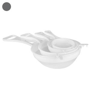 Küchensiebe, Kunststoff, 4er-Set, weiß