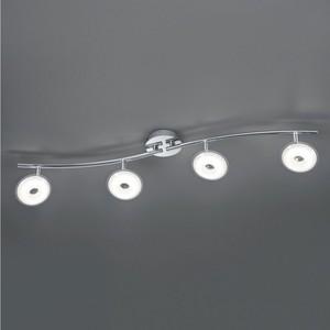 Trio Pilatus LED-Deckenlampe, 4-fach, 90 cm, silber