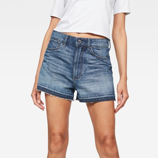 Arc High waist Boyfriend Ripped Shorts