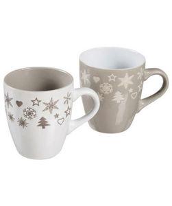 Tasse - weihnachtliche Motive - ca. Ø 8,8 x 10,6 cm, 2er-Pack
