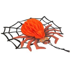 6x Halloween Teelicht 6cm m Spinne
