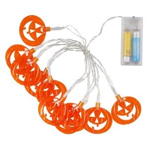Halloween-Lichterkette, LED, Kürbisse, 155 cm