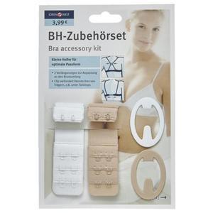 IDEENWELT BH-Zubehörset 3er Haken weiß/nude