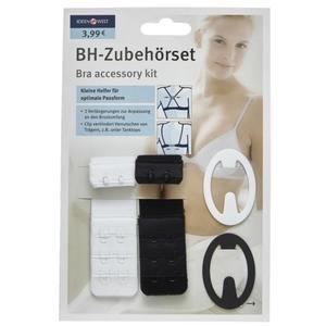 IDEENWELT BH-Zubehörset 2er Haken schwarz/weiß