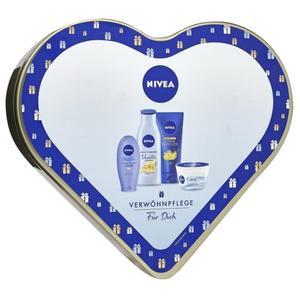 NIVEA Verwöhnpflege Für Dich Geschenkset mit Aufbewahrungsdose in Herz EUR/
