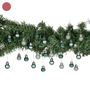 Mini Weihnachtskugeln 2 cm, 24 Stück, verschiedene Farben