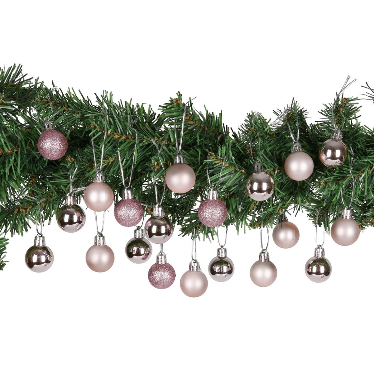 Bild 4 von Weihnachtskugeln, 3 cm, 20er-Set, rosa,