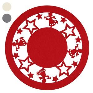 Motiv-Untersetzer Filz, rund, Engel, rot