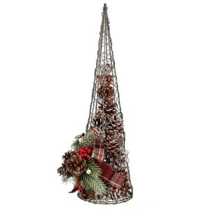 Drahttannenbaum Kiefernzapfen, Metall, 50 cm