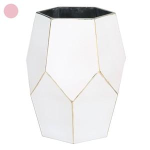 Deko-Vase geometrisch weiß