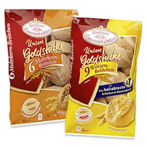 Coppenrath & Wiese Unsere Goldstücke Weizenbrötchen oder Mehrkornbrötchen gefroren, jeder 450-g-Beutel und weitere Sorten