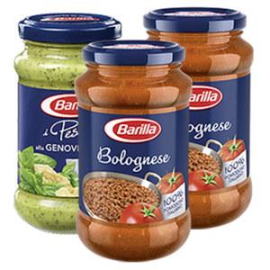 Barilla Pasta Sauce Ricetta Speciale oder Pesto versch. Sorten, bitte sortieren Sie selbst, 400/175/190-g-Glas