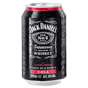 Jack Daniels & Cola, Jack Daniels & Ginger, Jack Daniels & Lynchburg Lemonade 10/10/10% Vol.,  jede 0,33-l-Dose