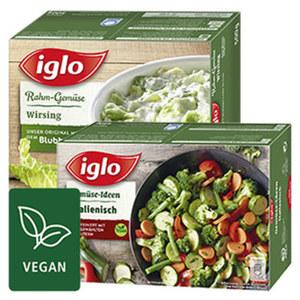 Iglo Gemüse-Ideen oder Rahm-Gemüse gefroren,  jede 480/500-g-Packung und weitere Sorten