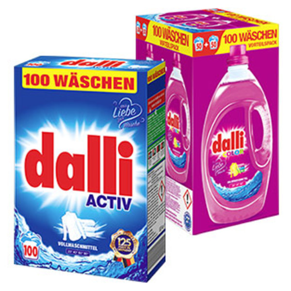 Dalli Waschmittel 100+10/100 Waschladungen, versch. Sorten, jede Packung