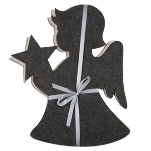 Untersetzer Engel Filz, 3 Stück groß