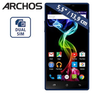 Smartphone 55 Platinum 16 GB · 2 Kameras (2 MP/13 MP) · 1 GB RAM · microSD™-Slot bis zu 64 GB · Android™ 5.1