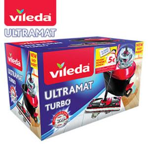 """""""UltraMat Turbo"""" - bestehend aus """"UltraMat""""-Wischer und Eimer mit PowerSchleuder"""