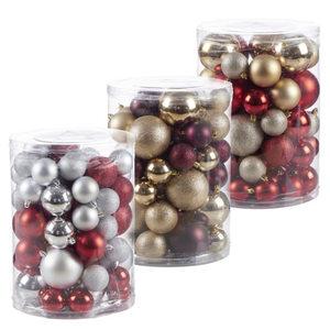ProVida Weihnachtskugeln 60 Stück in verschiedenen Farben