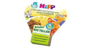 HiPP Kinder-Bio-Teller - Eiernudeln mit Gemüse und zartem Gulasch