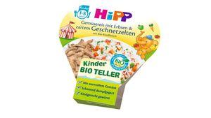 HiPP Kinder-Bio-Teller - Gemüsereis mit Erbsen & zartem Geschnetzelten