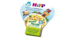 HiPP Kinder-Bio-Teller aus aller Welt - Nudeln mit Wildlachs in Kräuterrahmsauce