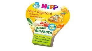 HiPP Kinder-Bio-Pasta - Mini-Rigatoni in Gemüse-Sahnesauce