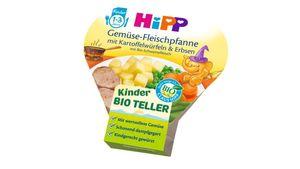 HiPP Kinder-Bio-Teller - Gemüse-Fleischpfanne mit Kartoffelwürfeln & Erbsen