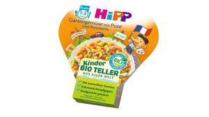 HiPP Kinder-Bio-Teller aus aller Welt - Gartengemüse mit Pute und Rosmarin