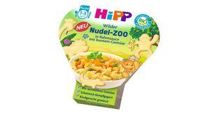 HiPP Kinder-Nudel-Spaß - Wilder Nudel-Zoo in Rahmsauce mit buntem Gemüse