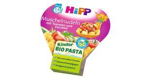 HiPP Kinder-Bio-Pasta - Muschelnudeln mit Tomaten und Zucchini