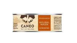 CANEO Hundenassfutter Geflügelherzen Dose