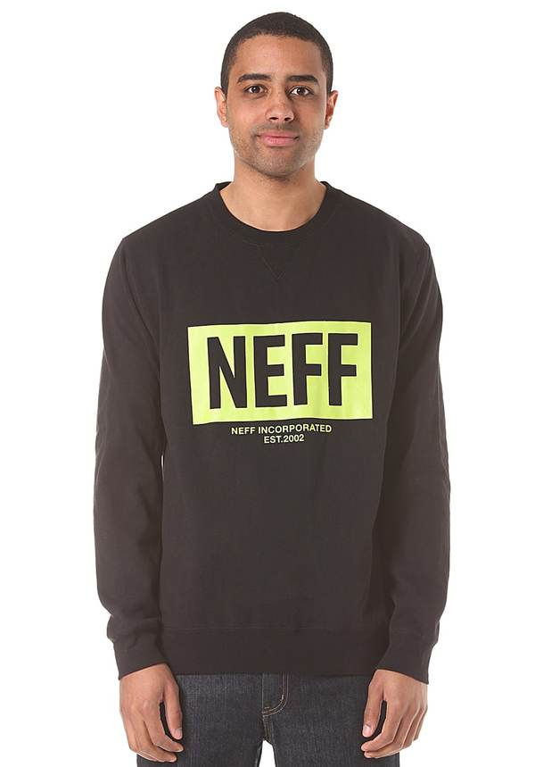 Neff New World Crew - Sweatshirt für Herren - Schwarz