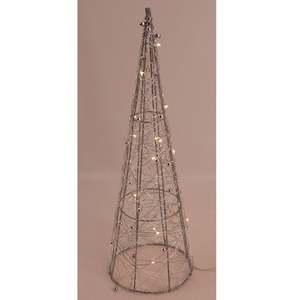 LED-Pyramide - silber - 30 cm
