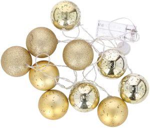 Grundig LED Kugelkette, 10er - Gold