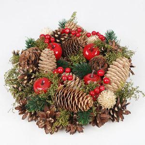 Weihnachts-Dekokranz mit Fichtenzapfen 25cm