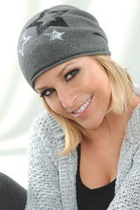 Damen Mütze - Grau mit Sternapplikation