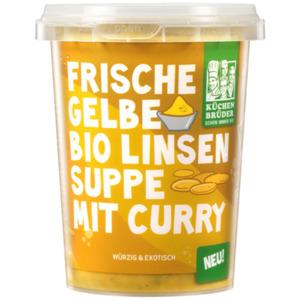 Küchenbrüder Frische gelbe Bio-Linsensuppe mit Curry 450ml